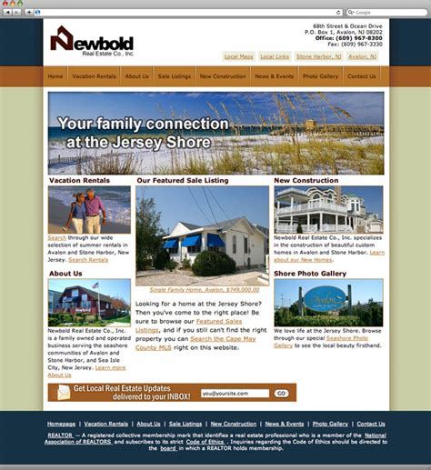 best real estate home page design gallery decoration