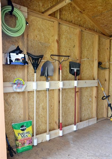 tool shed makeover  diy beneath  heart