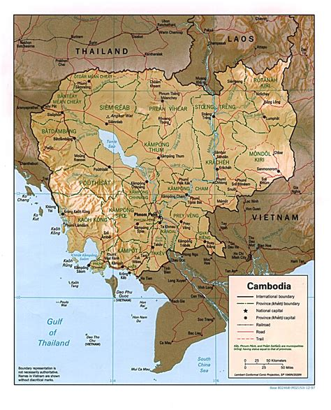 map of cambodia nationmaster maps of cambodia 11 in total