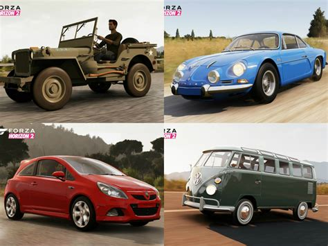 jeep renault forza horizon 2 s first cars revealed 1973 renault alpine