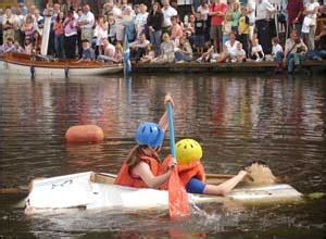 cardboard boat race linlithgow bbc news in pictures your pictures 26 august 2 september