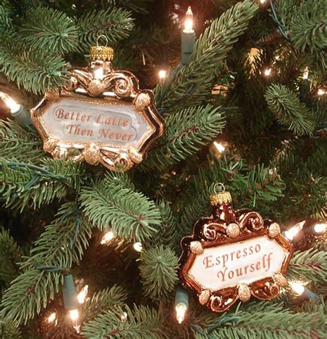 coffee sign christmas tree ornaments it s christmas time