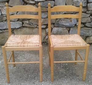 chaises bois assise paille clasf