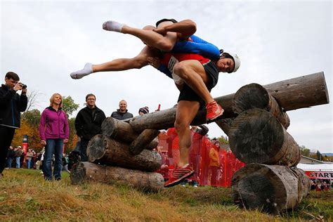 wife carrying competition  north american xcitefunnet