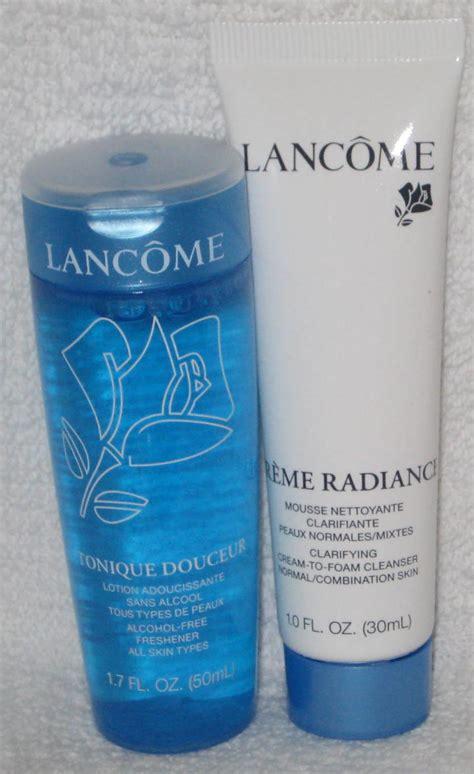 Toner Lancome lancome creme radiance cleanser and tonique douceur toner