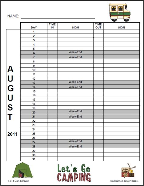 free daycare sign out sheet template search results