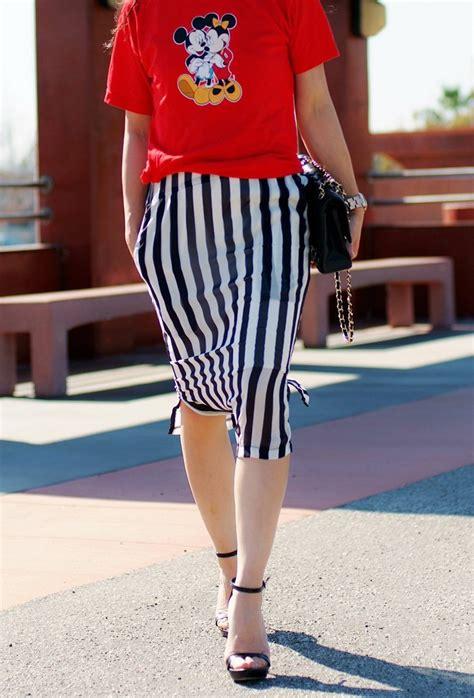 Luck You Mickey Dress mickey striped skirt hallie daily
