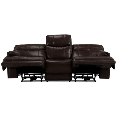 dark brown leather reclining sofa city furniture liam dark brown leather vinyl power