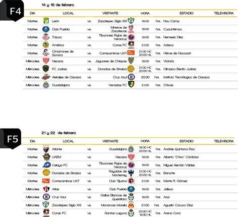 Copa Calendario Copa Mx Ya Tiene Calendario Para El C2017 R 201 Cord