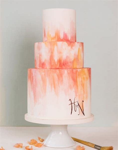 water color cake watercolor wedding cake ideas purewow
