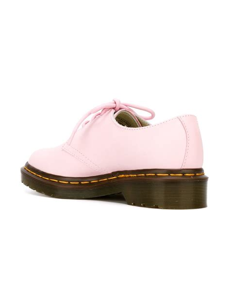 pink oxford shoes dr martens 3 eye oxford shoes in pink lyst