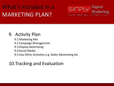 whats included what s included in a marketing plan