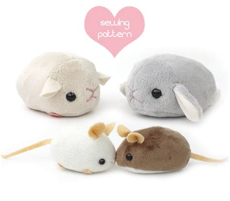 Easy Upholstery Step By Step Pdf Sewing Pattern Plush Hamster Mouse Rat Guinea Pig