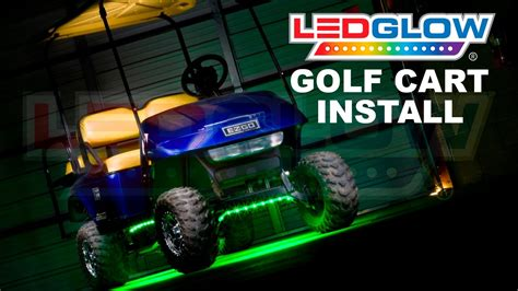 installing led lights ledglow how to install golf cart led lights