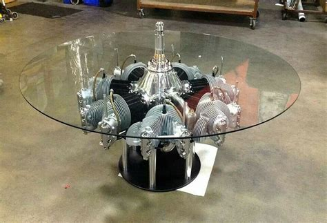 continental radial engine table by motoart my style