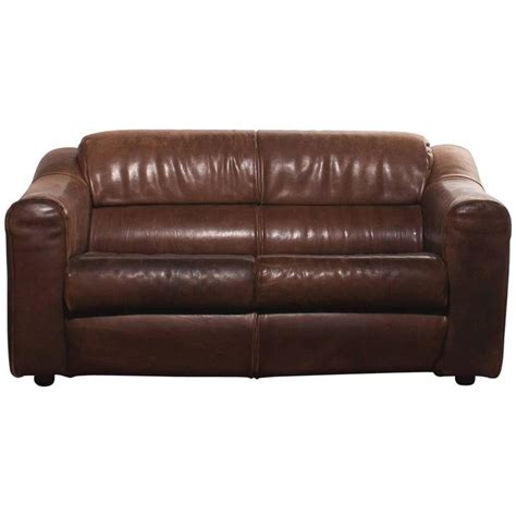 couch buffalo 1970s buffalo leather two seat sofa for sale at 1stdibs