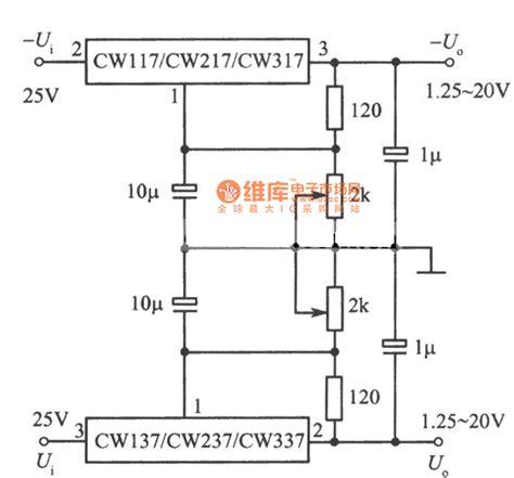 integrated circuit ic voltage regulators adjustable positive and negative output voltage integrated voltage regulator circuit power
