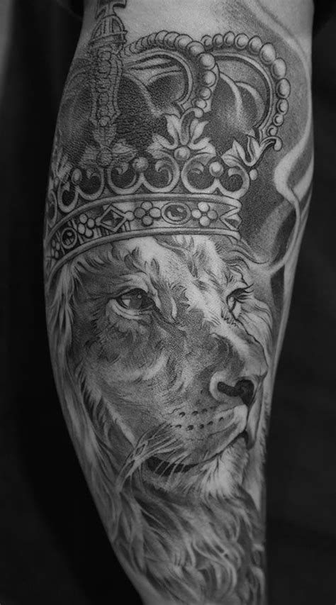 white lion tattoo king black and white from lowrider