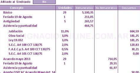 empleados de comercio liquidacin sueldo agosto 2013 empleados de comercio liquidaci 243 n sueldo agosto 2013