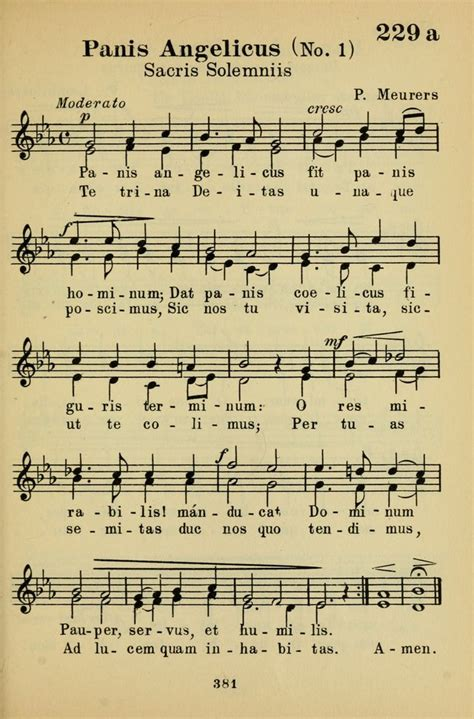 st lyrics gregory panis angelicus fit panis hominum hymnary org