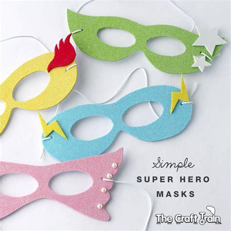 printable girl mask simple super hero masks with printable template the