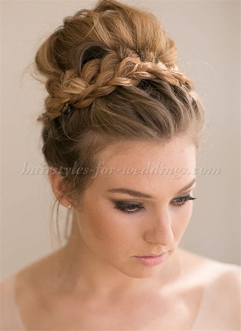 Wedding Hair Up In A Bun by Top Bun Wedding Hairstyles Top Bun Wedding Hairstyle