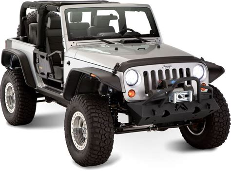 Bushwacker Jeep Bushwacker 10919 07 Bushwacker Flat Style Flares For 07