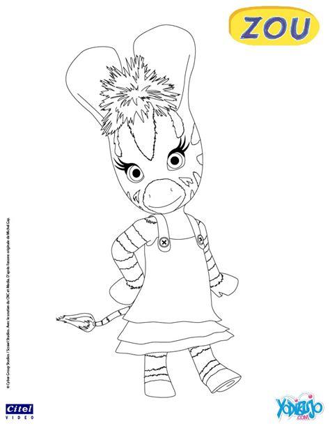 dibujos para pintar zou la cebra zou juega con un coche dibujos para colorear elzee es hellokids com