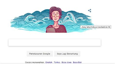 doodle jepang siapa katsuko saruhashi di doodle hari ini tekno