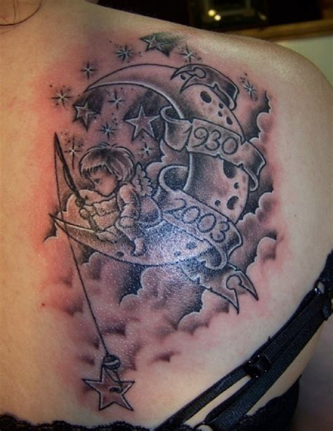 man in the moon tattoo designs cloud tattoos designs ideas and meaning tattoos for you
