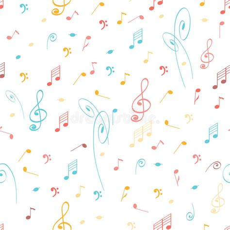 pattern making notes abstract music seamless pattern background with colored