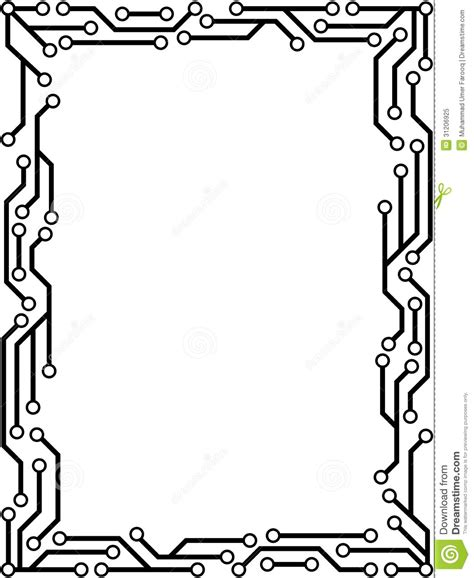 technology clipart borders