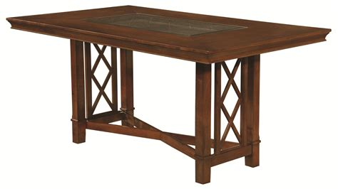 Stool Height Table by Pembrook 7 Transitional Style Counter Height Table