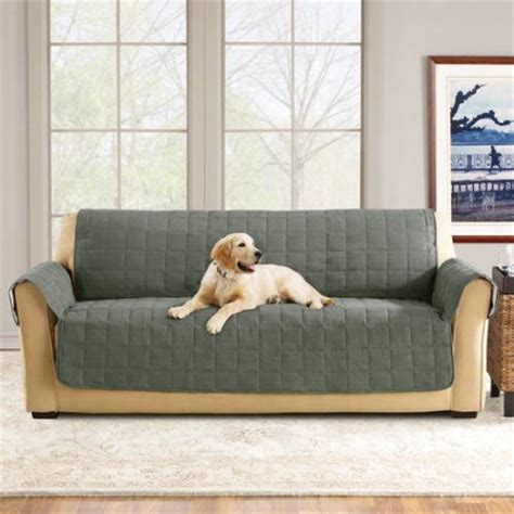 waterproof couch covers for dogs sure fit ultimate waterproof quilted pet sofa cover
