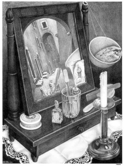 biography of escher the artist m c escher candle mirror 1934 wikipaintings org
