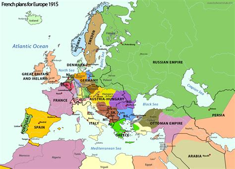 ww1 map european map after ww1