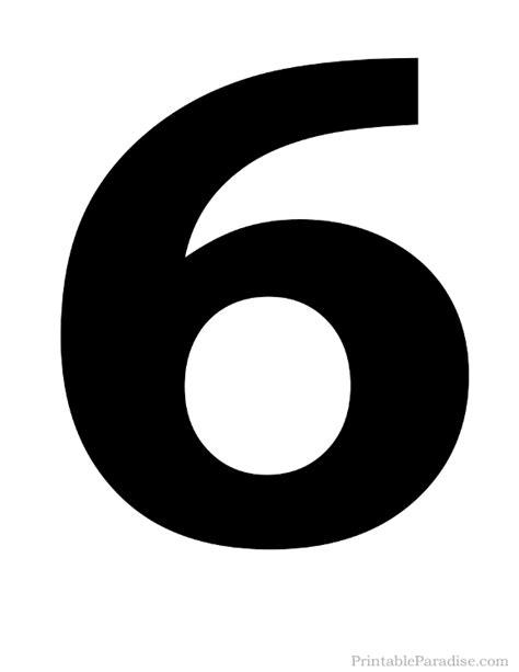 printable numbers images printable number 6 silhouette print solid black number 6