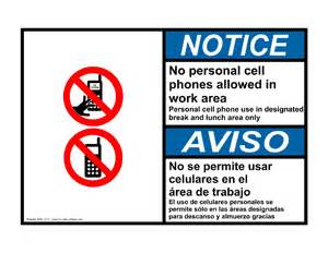 Anb 14121 no personal cell phones allowed in work area personal cell