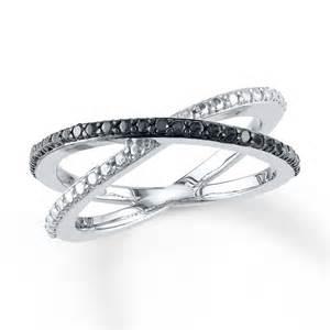jared black white ring 1 20 ct tw cut