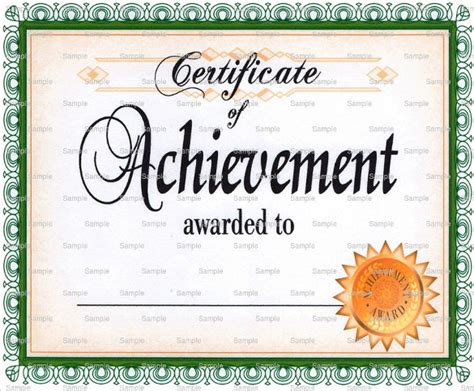 38 Best Certificate Of Achievement Templates Sle Templates Certificate Of Achievement Template