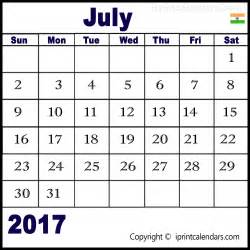 Calendar 2017 August India Get July 2017 Calendar India For Free Templates Tools
