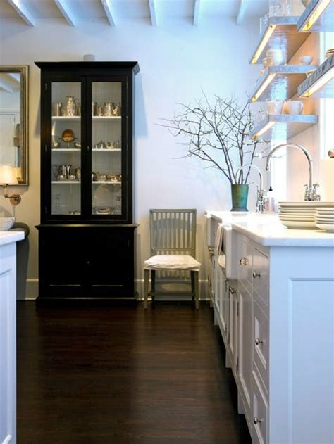 kitchen cabinets glass front black glass front china cabinet cottage kitchen
