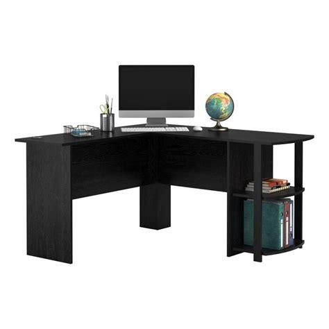 altra furniture dakota space saving l desk with hutch altra dakota 54 quot l shaped desk with bookshelves in black