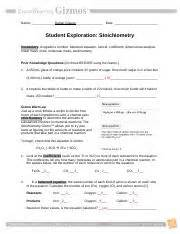 stoichiometryse name meaghan kreh date student exploration stoichiometry vocabulary avogadros