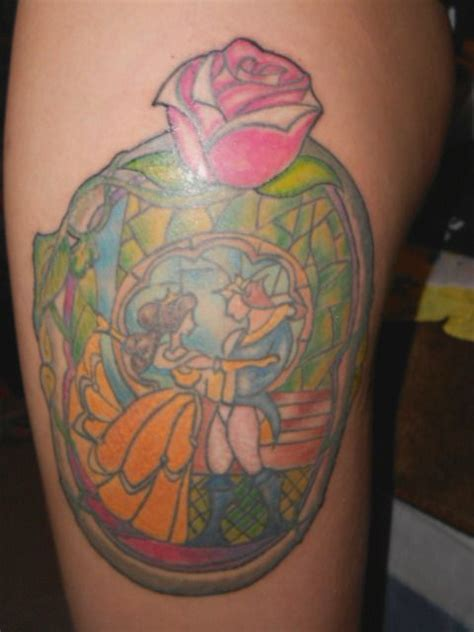 stained glass window tattoo stained glass window and the beast