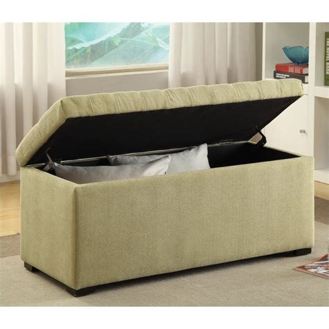 cloth storage bench tufted storage bench shultz basil fabric sah3917 s37
