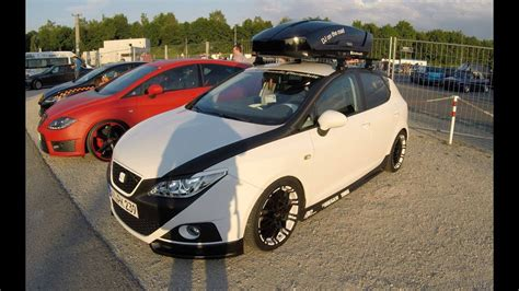 Auto Tuning Seat Ibiza 6j by Seat Ibiza 6j Sabi Tuning Show Car With Thule Jet Box