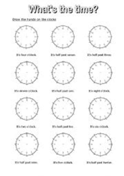 clock worksheets o clock and half past what time is it o clock worksheets