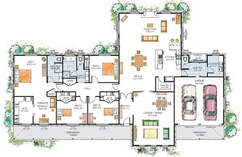 floor plan of modern family house paal kit homes hartley steel frame kit home nsw qld vic australia
