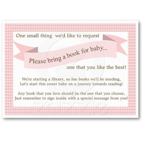 baby shower booklet template pink baby shower book insert request card for